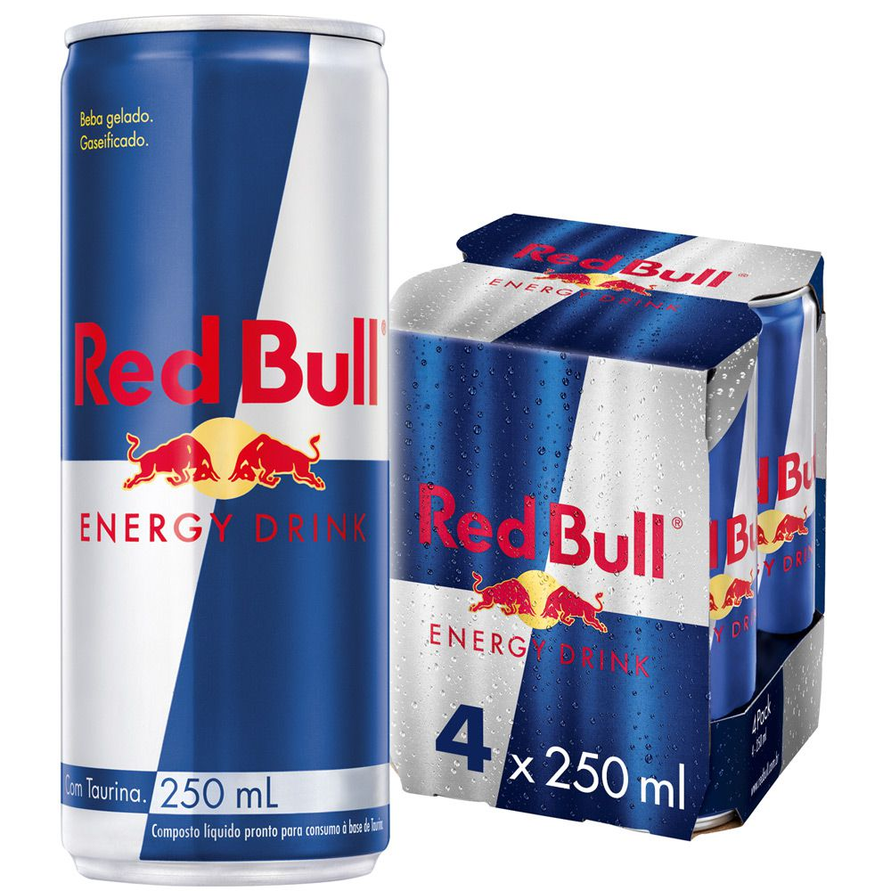 Pack 4un Energético Red Bull 250ml