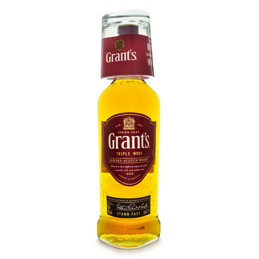 Grant's Triple Wood Blended Scotch Whisky 1L + Copo de Vidro