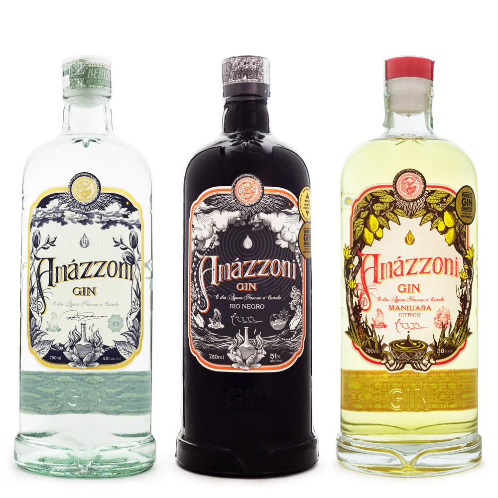 Kit Amázzoni Gin - 3 Rótulos
