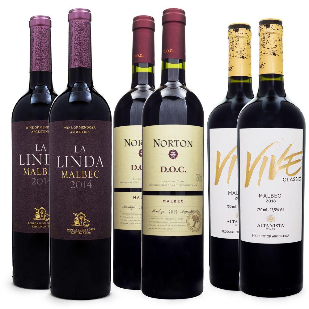 Kit de Vinhos - Malbec Argentino - 6 Garrafas