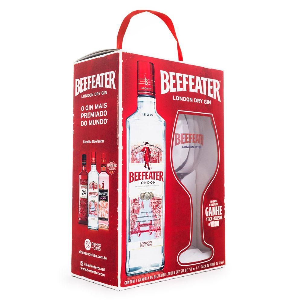 Kit Gin Beefeater 750ml + Taça de Vidro