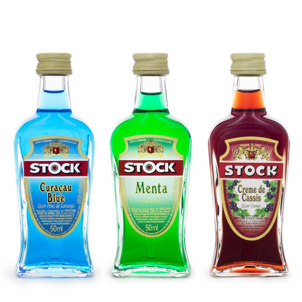 Kit Miniaturas Licores Stock 50ml