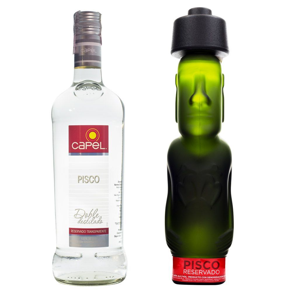 Kit Piscos Capel - Moai Reservado 750ml + Transparente 750ml
