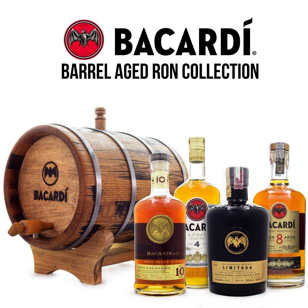 Combo Coleção Bacardi Rum Premium - Barril de Carvalho 3L