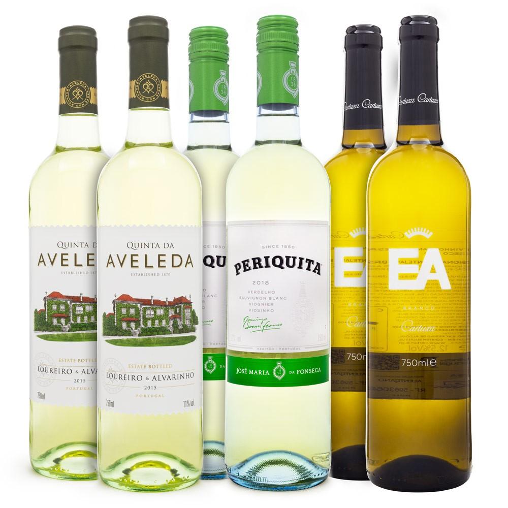 Kit Vinhos Brancos de Portugal - 2 Quinta da Aveleda + 2 Periquita + 2 Cartuxa EA