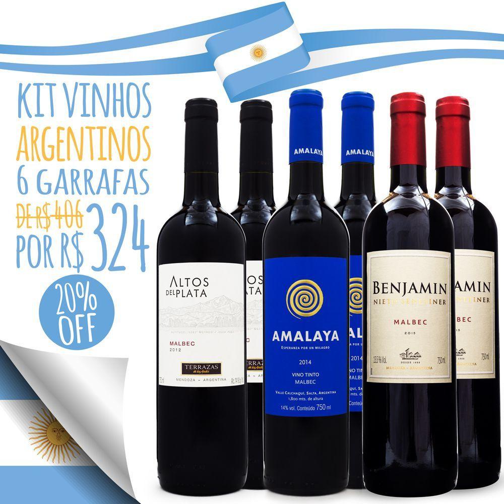 Kit Vinhos da Argentina Malbec - 6 unidades