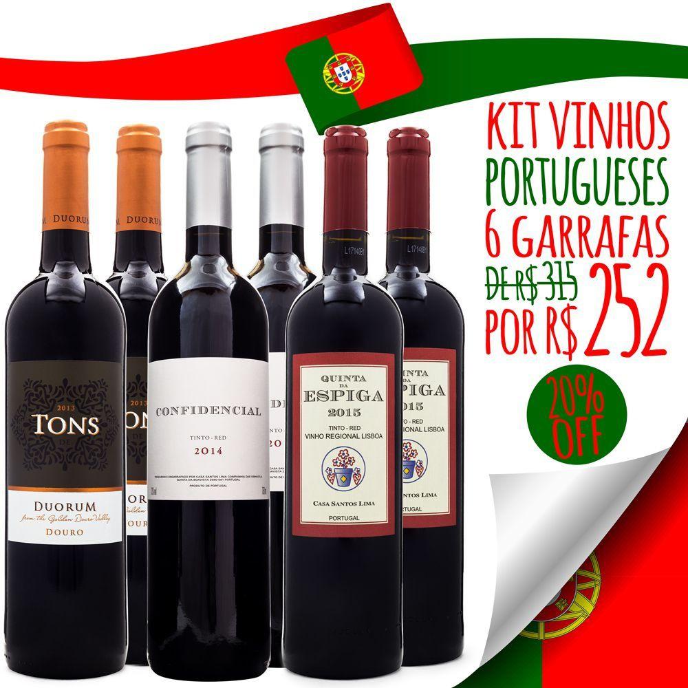 Kit Vinhos de Portugal - 6 unidades