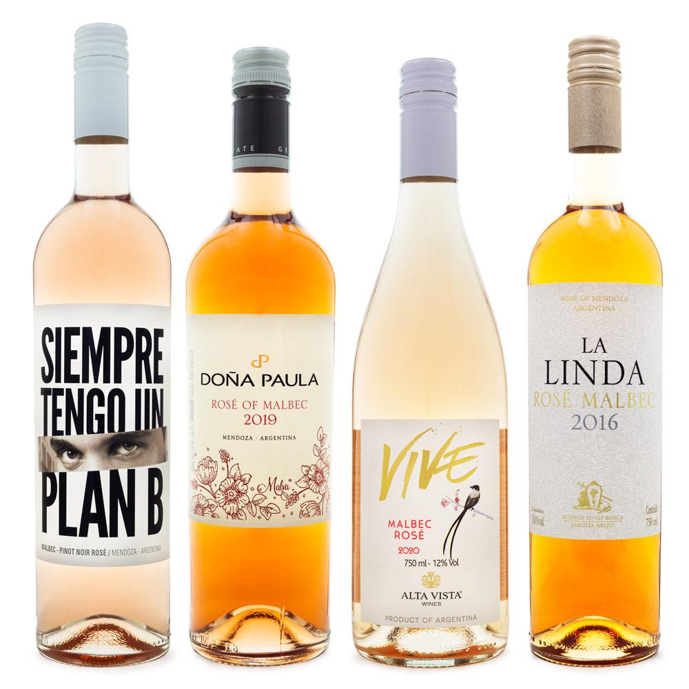 Kit Vinhos Rosé Argentinos - 4 Rótulos