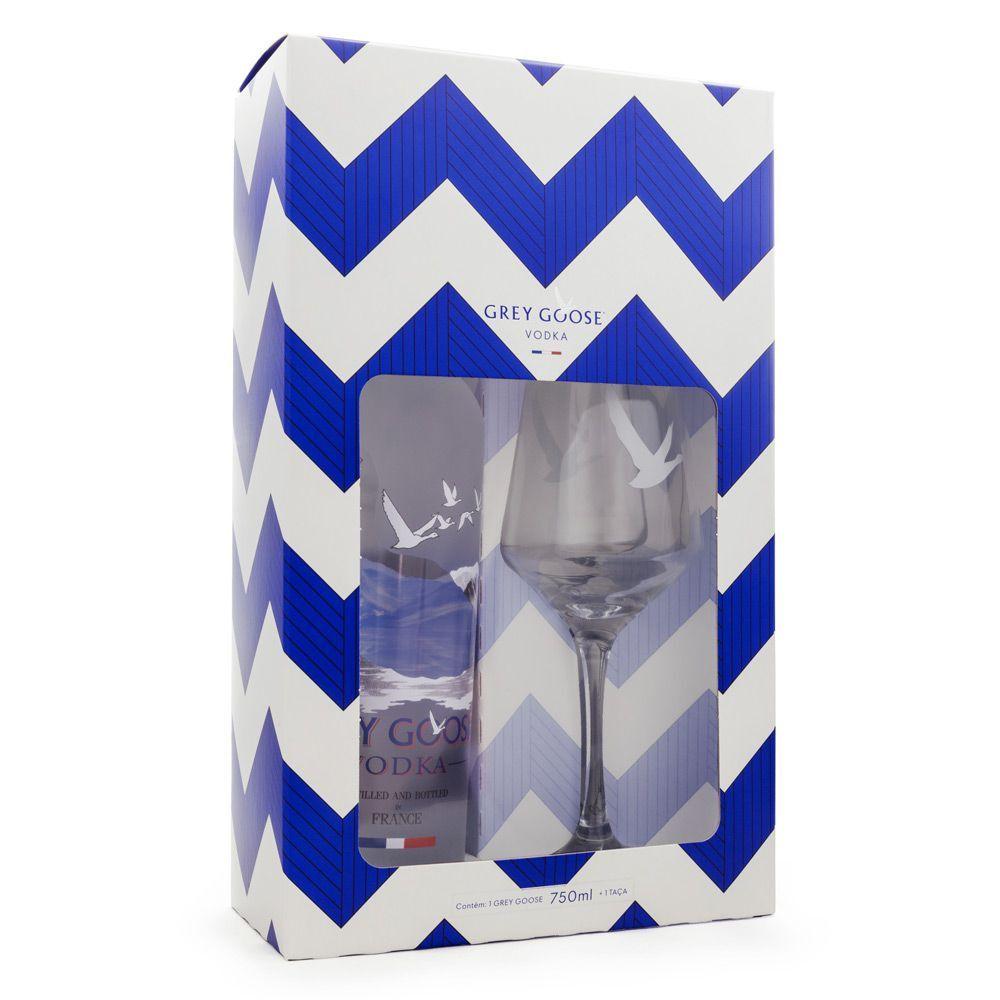 Kit Vodka Grey Goose 750ml + Taça