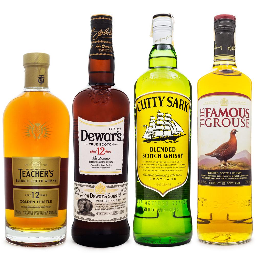 Kit Whisky Custo Benefício - Blended Scotch Whisky - 4 Rótulos
