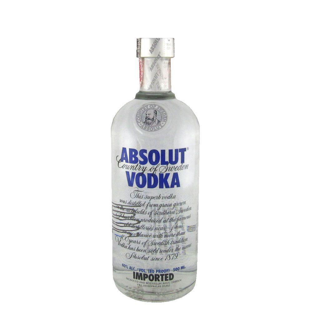 Meia Garrafa Vodka Absolut Regular 500ml