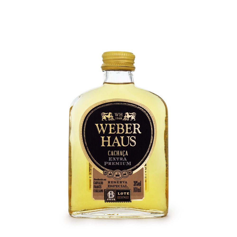 Miniatura Cachaça Weber Haus Extra Premium 6 Anos 160ml