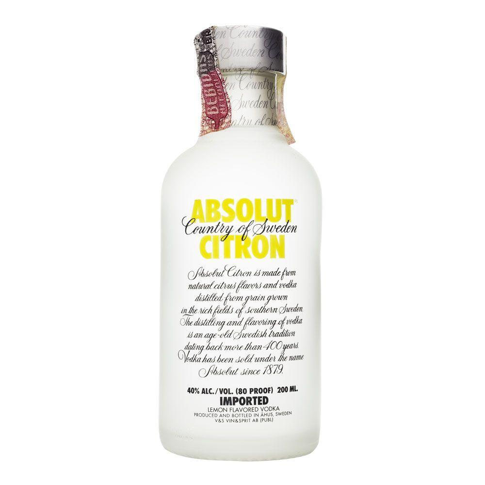 Miniatura Vodka Absolut Citron 200ml