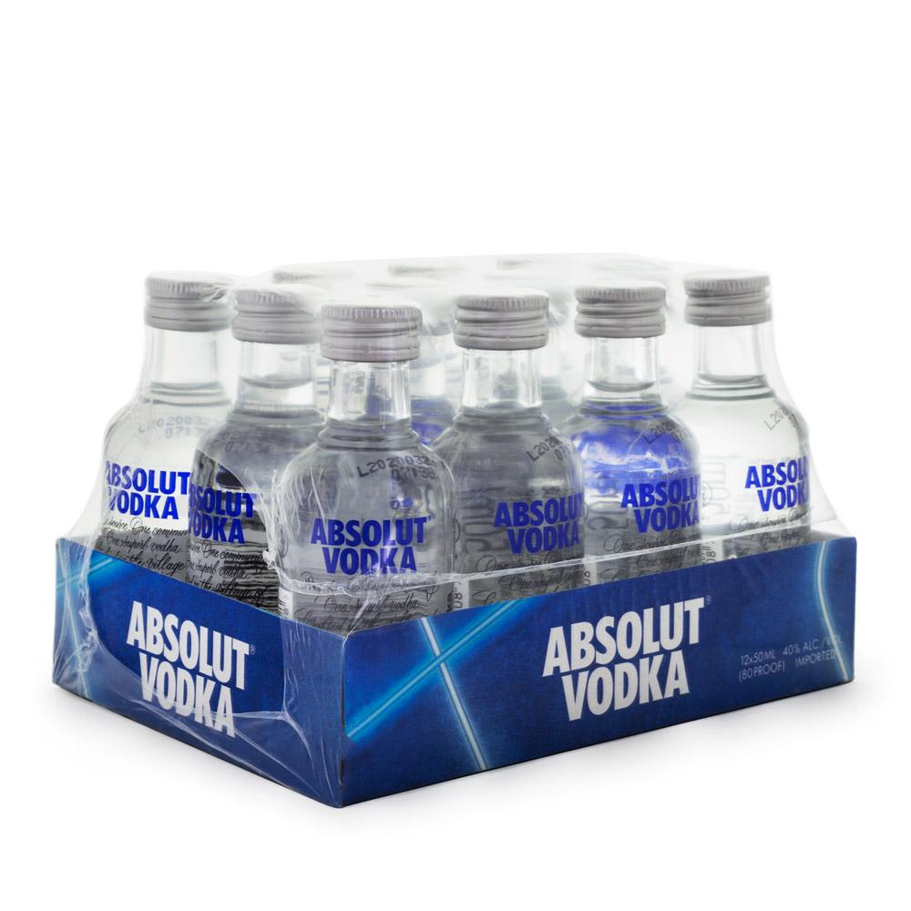 Pack 12 Miniaturas Vodka Absolut 50ml