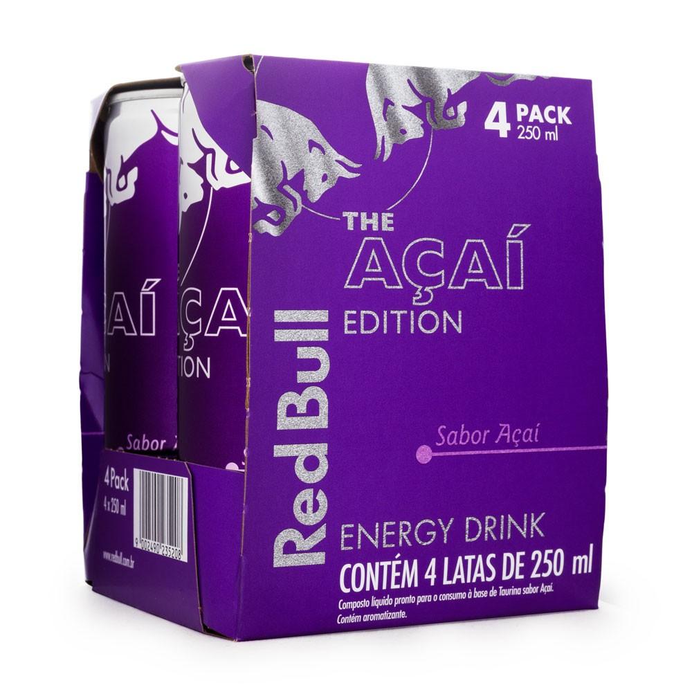 Pack 4un Energético Red Bull The Açaí Edition 250ml