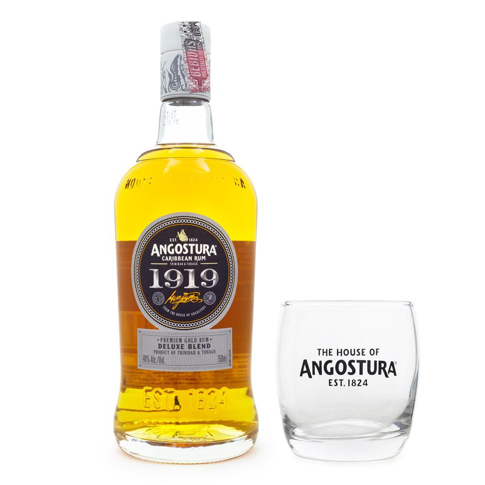 Rum Angostura 1919 750ml + Copo Angostura