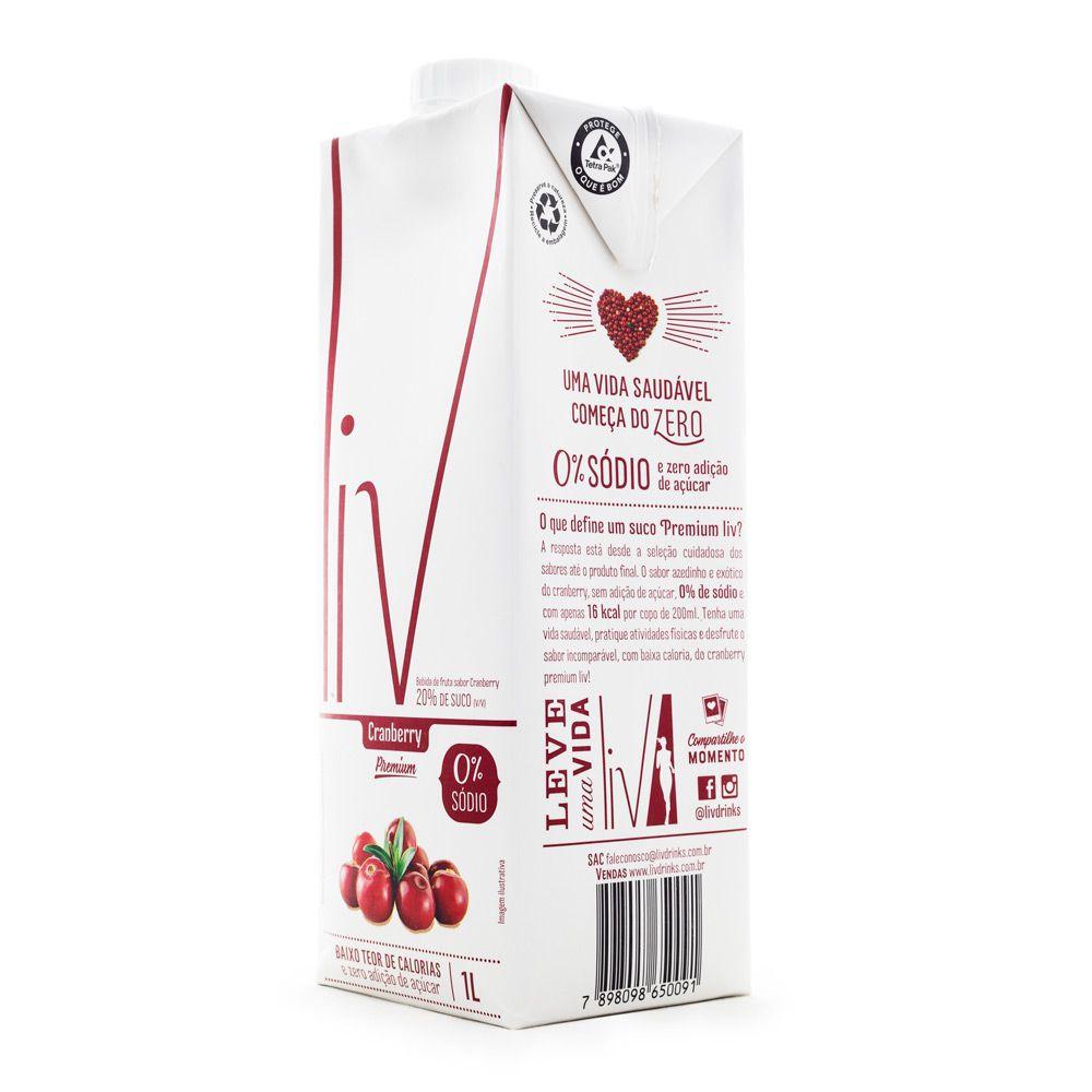 Suco Liv Cranberry 1L