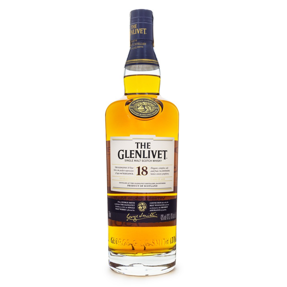 The Glenlivet 18 Anos Single Malt Scotch Whisky 750ml