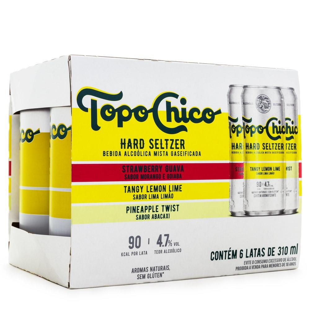 Topo Chico - Hard Seltzer - Pack com 6 Latas 310ml