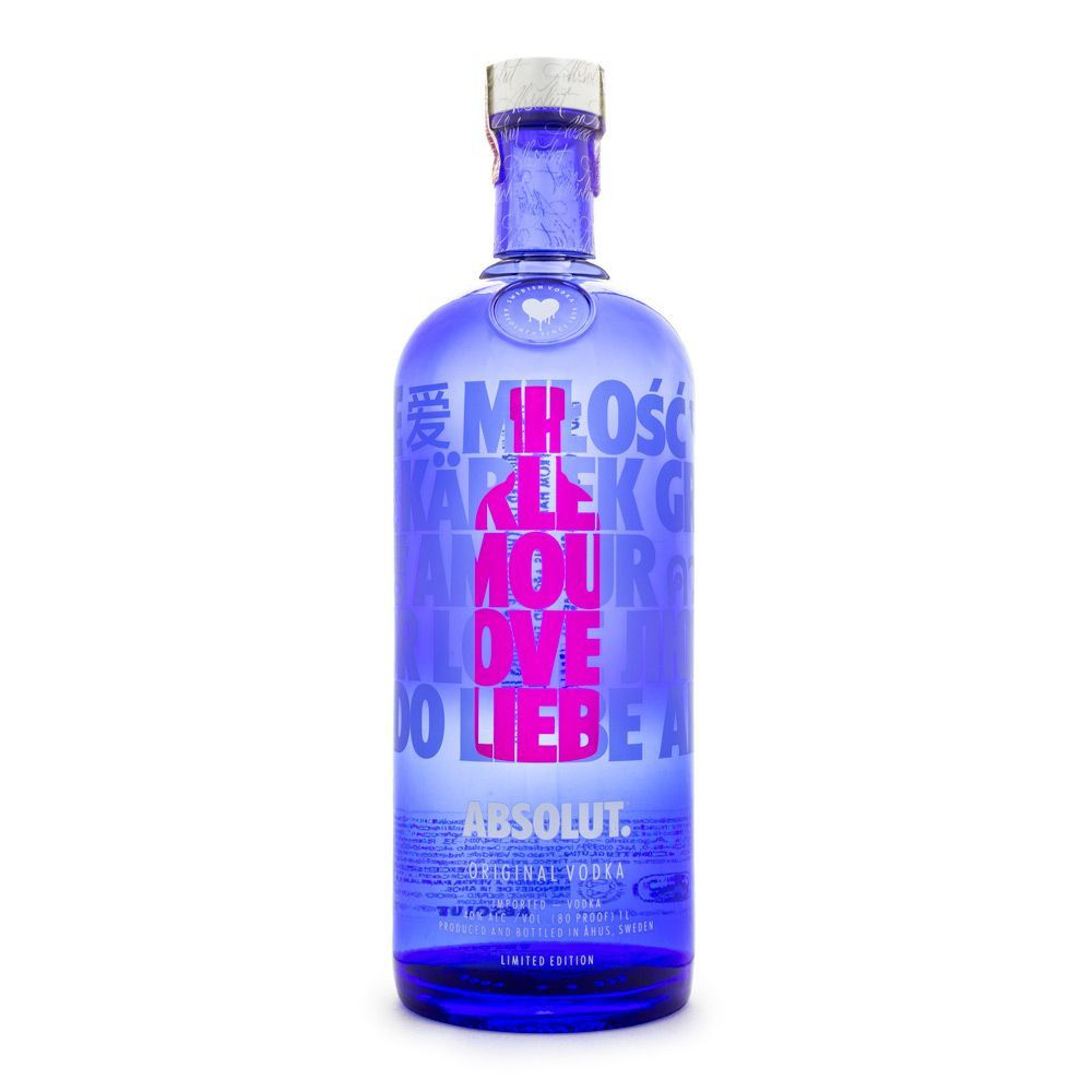Vodka Absolut Edição Limitada - Drop of Love 1L