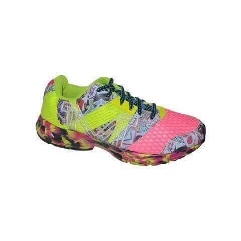 Tenis Corrida Marathon, Linha 4000, Sola EVA, Palmilha em Gel Cor: Pink/Amarelo