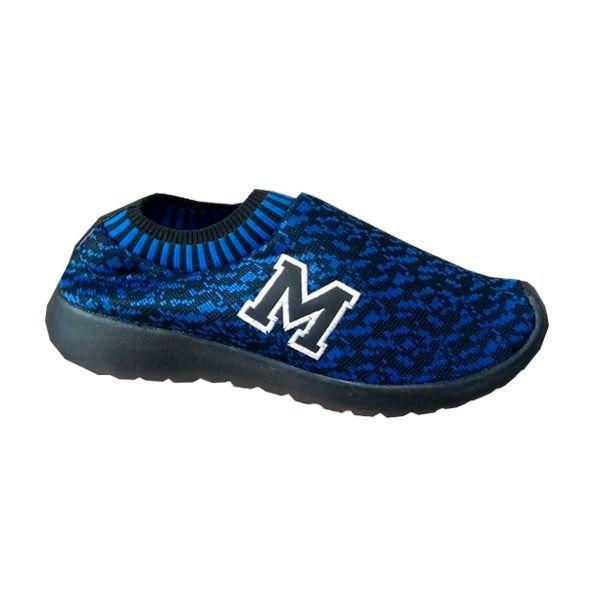 Tenis Marathon Confort Anfibio Neoprene Azul/Preto