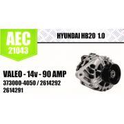 Alternador HYUNDAI HB20 1.0 VALEO 14V 90A 3730004050 2614292 2614291 AEC21043