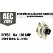 Alternador Hyundai Santa Fé 2.7 Kia Magnents Optima Rondo Denso 14V 130 Amp 37300-3E100 02131-9271 AEC21046