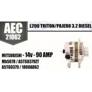 Alternador L200 TRITON PAJERO 3.2 DIESEL MITSUBISHI 14V 90A Mb5078 A5TG0379ZT A5TG0379 1800AD62 AEC21062
