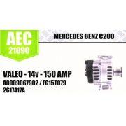 Alternador Mercedes Benz C200 Valeo 14V 150 Amp A0009067902 FG15T079 2627417A AEC21090