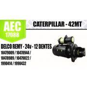 Motor de arranque CATERPILLAR 42MT DELCO REMY 24V 12 DENTES 10479009 10478944 10478989 10479022 1990414 1990432 AEC17088