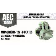 Motor de arranque EMPILHADEIRA Nissan TCM Komatsu MITSUBISHI 12V 8 DENTES LE13050062 M003T25181 M3T25181 AEC17006