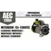 Motor de arranque EMPILHADEIRA Still Hyster K25 MITSUBISHI 12V 9 DENTES Le13050165 M000T65381 M000T65581 M0T65381M0T65581 23300F4U10 AEC17004
