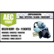 Motor de arranque EMPILHADEIRA Yale Hyster Clark Mercury DELCO REMY 12V 11 DENTES 9000885 9000762 9000768 9000789 9000886 50812604A2 (OMC) 3855177 AEC17007
