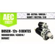 Motor de arranque GM ASTRA OMEGA KADET VECTRA S10 BOSCH 12V 9 DENTES 9000081004 438014 D6RA82 AEC11021