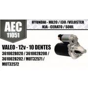 Motor de arranque HYUNDAI HB20 I30 VELOSTER KIA CERATO SOUL VALEO 12V 10 DENTES 361002B020 361002B200 361002B202 M0T32571 AEC11051