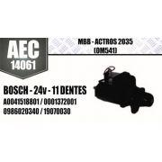 Motor de arranque MBB ACTROS 2035 OM541 BOSCH 24V 11 DENTES A0041518801 0001372001 0986020340 19070030 AEC14061