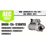 Motor de arranque MBB Sprinter 311 415 515 CDI OM651 2011 em diante DENSO 12V 12 DENTES F000AL0903 A9069060026 9069060026 428005510 4280005511 AEC14013