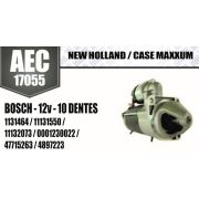 Motor de arranque New Holland CASE MAXXUM BOSCH 12V 10 DENTES 1131464 11131550 11132073 0001230022 47715263 4897223 AEC17055