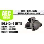 Motor de arranque VOLVO DEUTZ HAMM BOMAG ATLAS COPCO AGCO ISKRA 12V 9 DENTES 11131769 11132256 11132137 11131754 11131620 0001230006 AEC17056