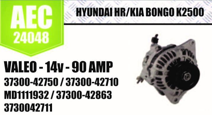 Alternador HYUNDAI HR KIA Bongo K2500 VALEO 14V 90A 37300 42750 37300 42710 MD1111932 37300 42863 3730042711 E 70005 D 10135 SL A0223 AEC24048