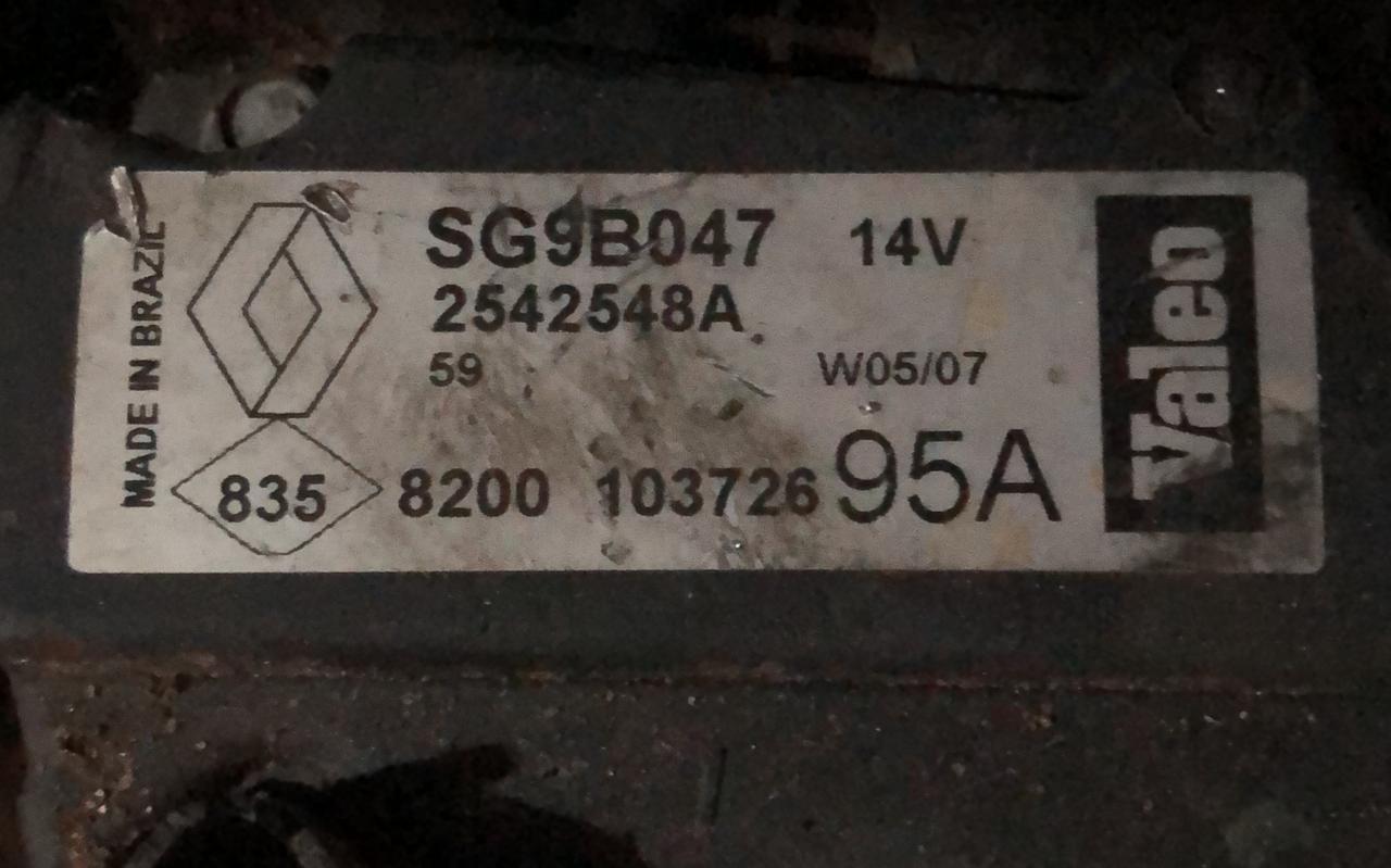 Alternador reformado RENAULT CLIO SCENIC KANGOO BOSCH 14V 105A SG9B047 0124415041 0124415013 SG9B017 0124325031 SG99B033 2542279E 3938 037 903 025N VWB