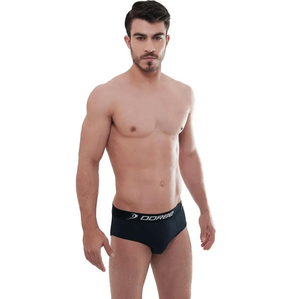 Kit 10 Cuecas Slip Microfibra + 8 Pares Meia Sapatilha Sport