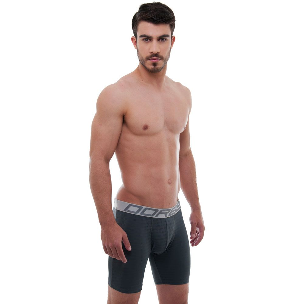 Kit 5 Cuecas Long Leg Microfibra New Skin + 3 Pares Meia Sport