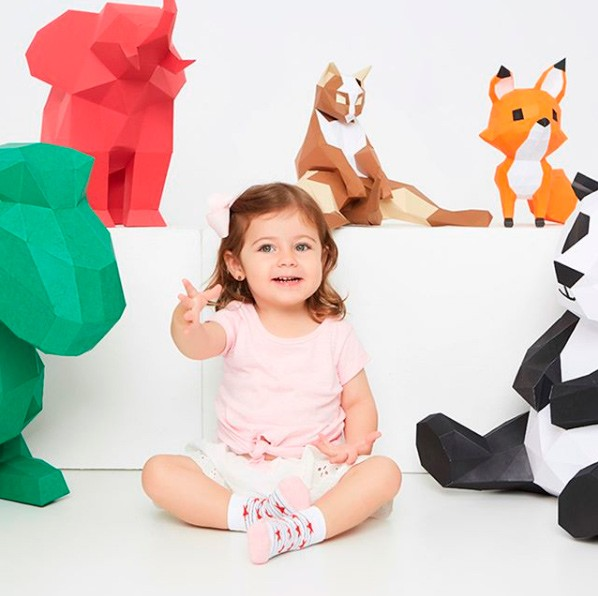 Kit 6 pares meia algodão infantil menina