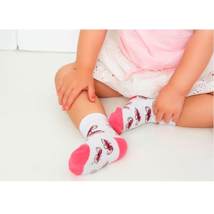 Kit 6 pares meia algodão infantil menina - recém nascido
