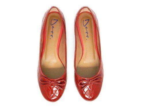 2b385e12f1 Sapatilha Vermelha Verniz Matelasse Lacinho Bico Redondo - Calçados ...