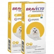 2 Bravecto Transdermal (Pipeta) Cães de 2 a 4,5 kg - BLACK WEEK