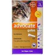 Advocate Gatos de 4 a 8 kg Antipulgas Pipeta Bayer