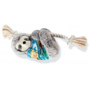 Pelúcia Bicho Preguiça Havaiano com corda com apito para cães